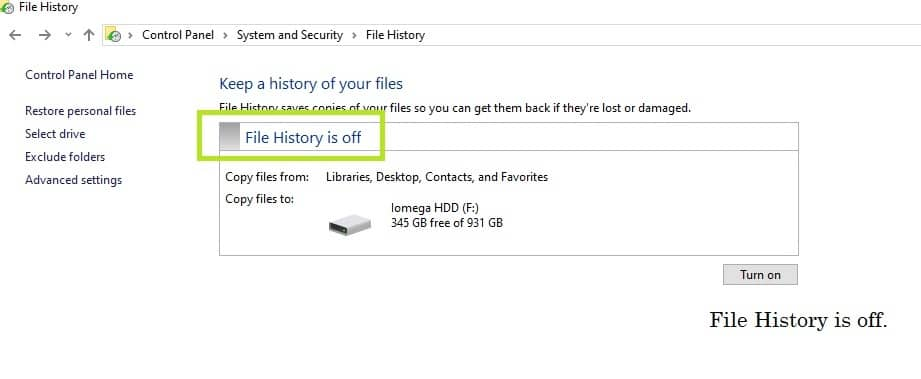How to Save Copies of your Files with Microsoft's Windows 10 File History