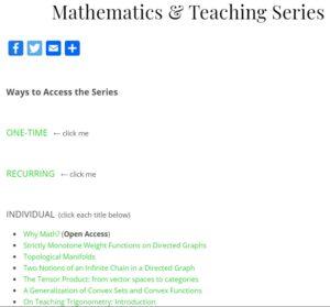 mathematics - teaching